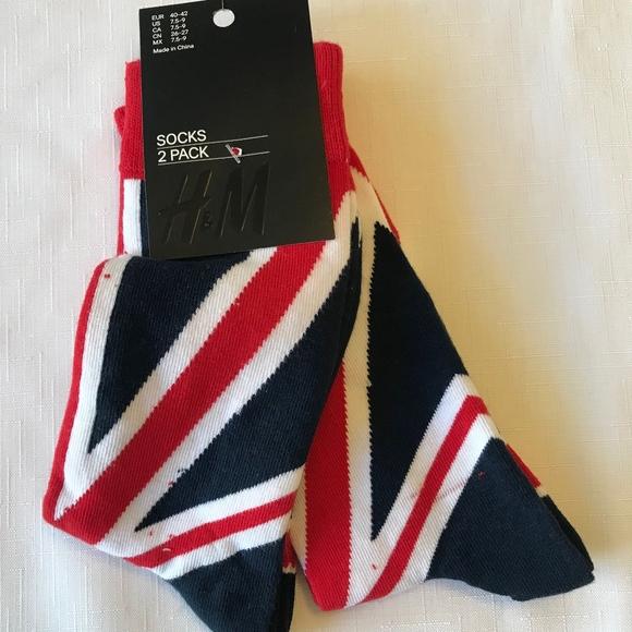 Hm Underwear Socks Two Pack Hm Union Jack 759 Mens Socks Poshmark